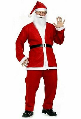 £37.49 • Buy SANTA CLAUS COSTUME Father Christmas Suit Costume Fancy Dress Outfit Adult Hat