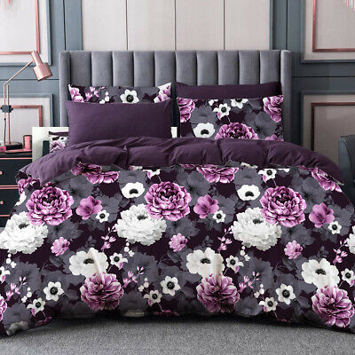 AU36 • Buy All Size Bed Ultra Soft Quilt Duvet Doona Cover Set Bedding Pillowcase Violet