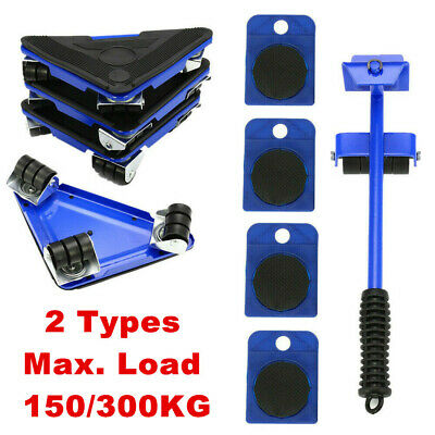 AU30.99 • Buy 5x Furniture Lifter Moves Slider Roller Home Moving Wheels Mover Kit Lifting Kit