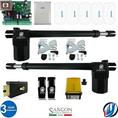 £329.99 • Buy Oxygen Automation Electric Gate Swing Opener Complete Kit 2 Sargon Ram 5 Remotes