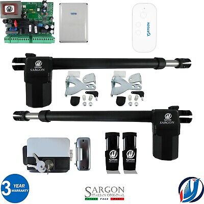 £284.99 • Buy Oxygen Automation Electric Gate Swing Opener Complete Kit 2 Sargon Ram 5 Remotes