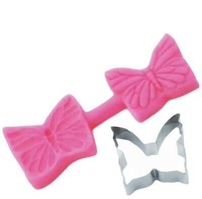 BUTTERFLY- Blossom Sugar Art Cutter And Veining Mould Set Flower FREE P&P • 7.99£