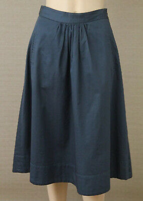 AU38 • Buy GORMAN Size 8 Teal Blue Cotton Flared A-Line Midi SKIRT With Pockets