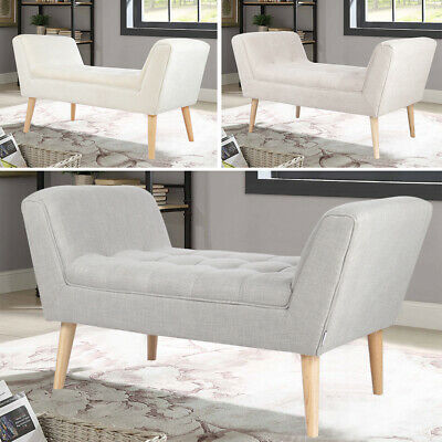 Window Seat Armed Bench Bedroom Hallway Stool Sofa Lounge 2 Seater Guest Chair • 115.14£