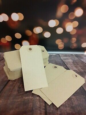 20 X Luggage Tags - Kraft/Brown - Gift Tags, Price Tags, Gift Wrapping, Craft • 0.99£