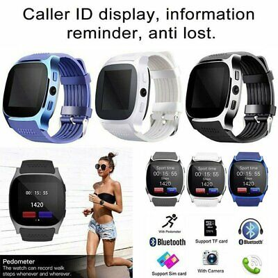 AU13.88 • Buy Bluetooth T8 Smart Watch Pedometer GSM SIM For IPhone Samsung Smart Phone