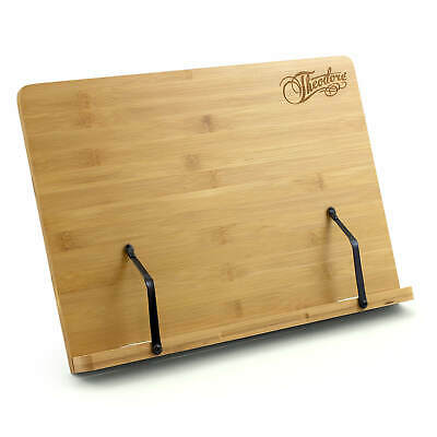 Theodore Wooden Bamboo Adjustable Tabletop Book Rest Sheet Music Stand 390mm X 2 • 18.49£
