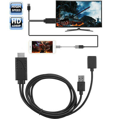 $ CDN17.27 • Buy Cell Phone To TV HDMI Cable Adapter HDTV For IPhone IOS Android Samsung Galaxy