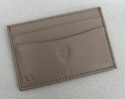 £3.65 • Buy ASPINAL OF LONDON Ladies Taupe Leather Slim 6 Credit Card Case Embossed NEW