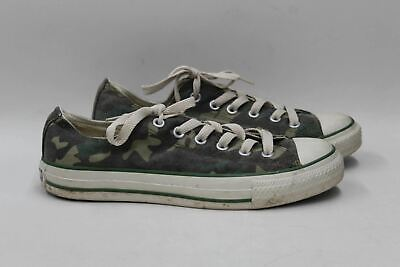CONVERSE Ladies Green Camouflage Print Canvas Round Toe Lace Up Trainers UK7 • 38.15£