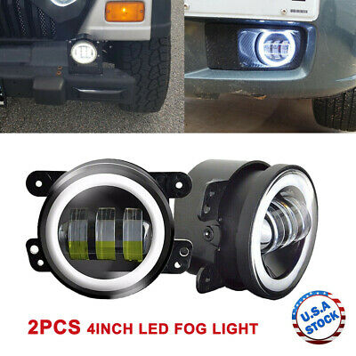 $35.89 • Buy 2PCS 4  Inch LED Fog Light Projector Halo Ring For Jeep Grand Cherokee Wrangler