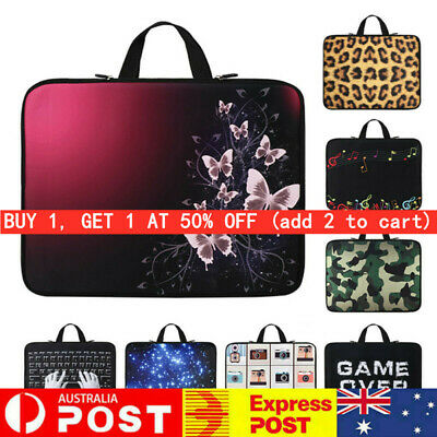 AU20.99 • Buy Dual Zipper Computer Sleeve Case Laptop Bag For HP Lenovo Acer MacBook Air Pro~