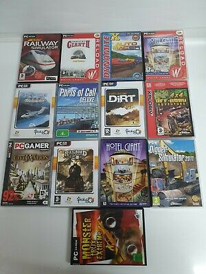 PC CD ROM GAME BUNDLE X13 Games Mixed Simulator, Racing, War • 11.99£