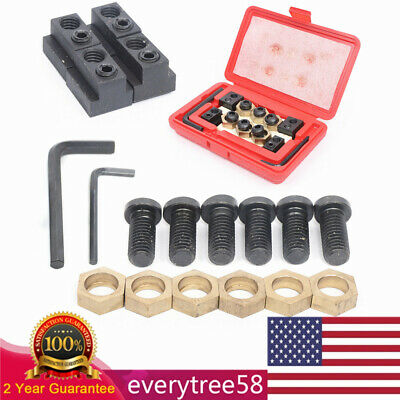 $46.55 • Buy 18Pcs Eccentric 5/8  T-Slot Clamping Kit 1/2-13 For Mill Drill Work Table