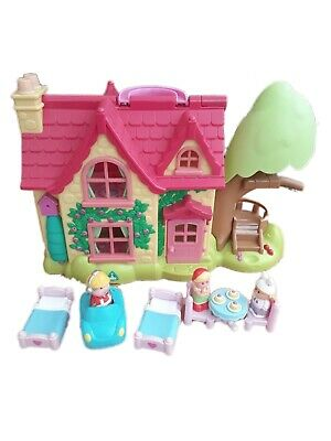 ELC Happyland Cherry Tree Lane Cottage House + Figures + Furniture + Car • 24.99£