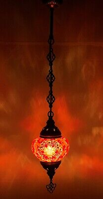 £25.98 • Buy Turkish Moroccan Glass Mosaic Hanging Lamp Ceiling Light Chandeliers