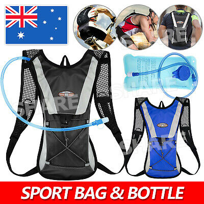 AU16.95 • Buy Hiking Camping Cycling Running Hydration Pack Backpack Bag + 2L Water Bladder