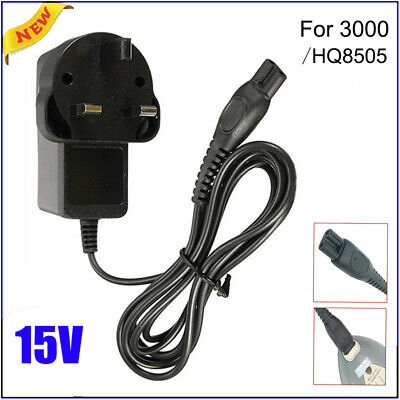 AU8.08 • Buy 3 Pin UK Plug Power Charger Lead Cord Fit For Philips Shaver Series 3000 HQ8505