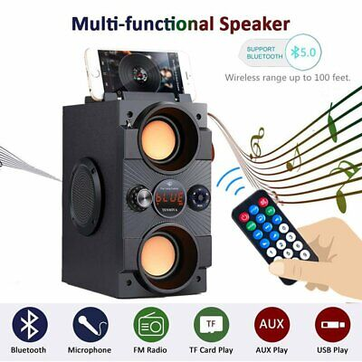 AU44.45 • Buy Portable Bluetooth Speaker Subwoofer Party Stage Wireless Sound System & Remote
