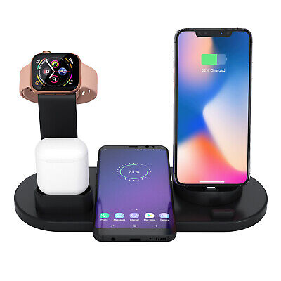 $ CDN21.86 • Buy 4 In 1 Wireless Charging Station Dock Charger Stand Apple Watch Air Pods IPhone