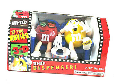 $18.77 • Buy M & M Candy Dispenser At The Movies In 3-D Red & Yellow Limited Edition New