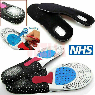 £4.50 • Buy Orthotic Insoles For Arch Support Plantar Fasciitis Flat Feet Back & Heel Pain A