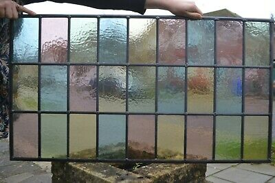 R1199. Traditional Leaded Light Stained Glass Window Panel Made New Your Size. • 233£