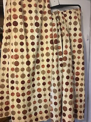 £25 • Buy Country Style Bubbles Curtains.A Pair , Professionally Made From Dunelm Mill