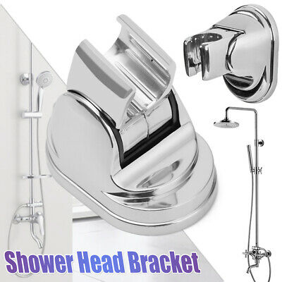Adjustable Chrome Bathroom Shower Head Holder Hand Shower Bracket Wall Mounted* • 3.84£
