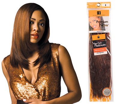Premium Now Yaki Platinum By Sensationnel 100% Human Hair Weave In 16 INCH • 50.99£