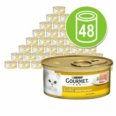 Gourmet Gold Pate Recipes Wet Cat Food 48 X 85g • 33.50£