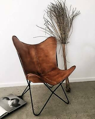 £113.62 • Buy Handmade Vintage Classic Buffalo Leather Butterfly Chair Relax Arm Chair BKF Ten