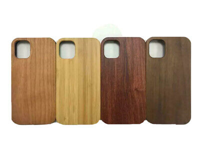 IPhone Natural Wooden Case X XR XS Max 6 7 8 11 Shockproof Cover • 7.99£