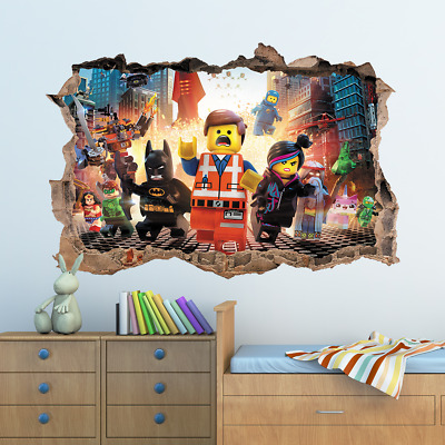The Lego Movie Hole In Wall Sticker Decal Decor Kids Bedroom Decoration • 7.99£