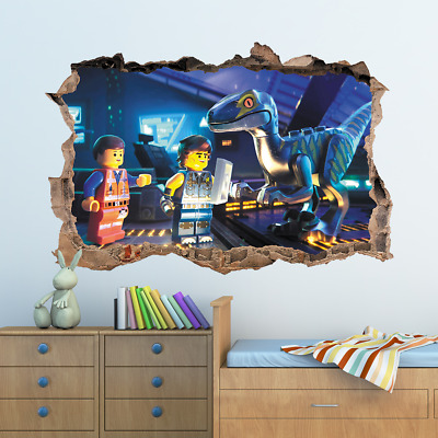 The Lego Movie Hole In Wall Sticker Decal Decor Kids Bedroom Decoration • 12.99£