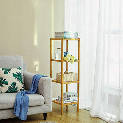 £27.98 • Buy Wooden Bamboo Shelf Stand Book Plant Display Storage Cabinet Towels Holder Unit