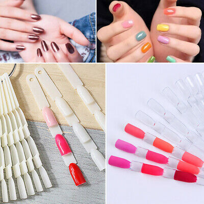 150pcs Fake Nail Tips Manicure Nail Art Practice Colour Display Card Pop Stick • 7.95£