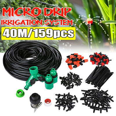 40M Automatic Plant Watering System Irrigation Water Drip Sprinkler Kit Garden • 13.49£