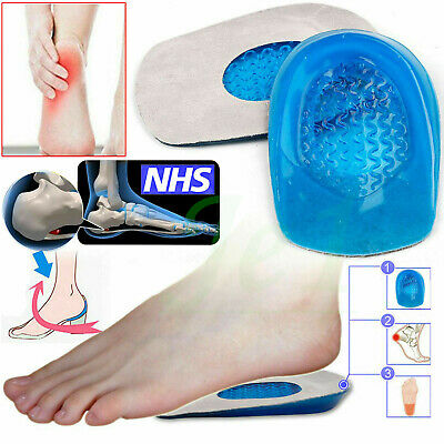 Foot Pain Relief Plantar Fasciitis Gel Heel Spur Support Cushion Insoles Pad  • 3.39£