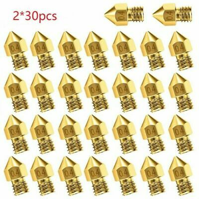 AU16.99 • Buy 30-60PCS 3D Printer Nozzle Accessory MK8 0.4mm For CR-10 For Ender 3 For Anet A8