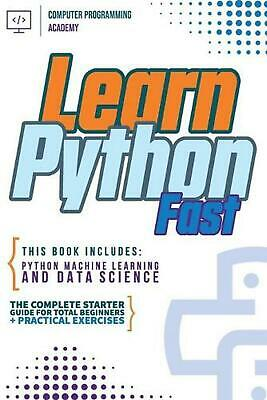 AU35.18 • Buy Learn Python Fast By Computer Programming Academy (English) Paperback Book Free