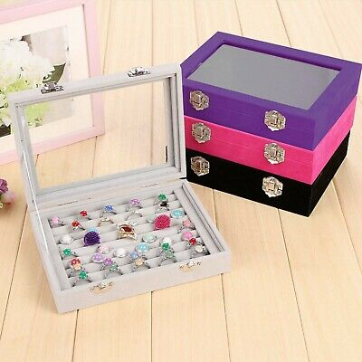 AU8.39 • Buy Velvet Ring Earring Jewelry Display Organizer Box Holder Storage Case