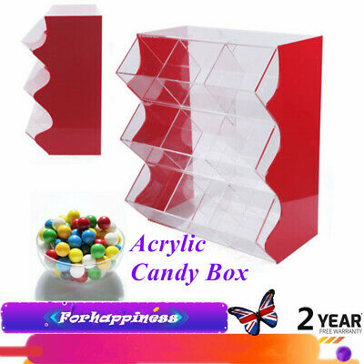 Stacking Pick & Mix Dispenser Wedding Sweets Acrylic Candy Box Large Capacity UK • 164£
