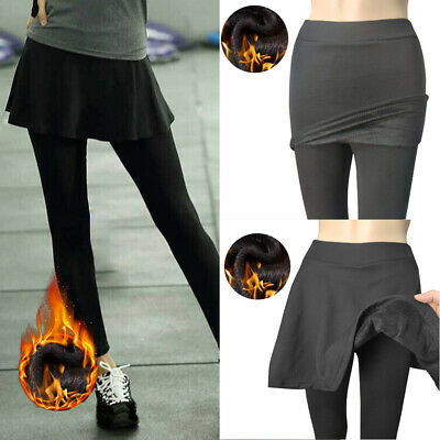 £5.99 • Buy Women Sexy Slim Leggings Pants Skinny Pencil Trousers With Skirt Fake Two Pieces