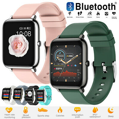 AU41.86 • Buy P22 Bluetooth Smart Watch IP67 Heart Rate Blood Pressure Monitor Fitness Tracker