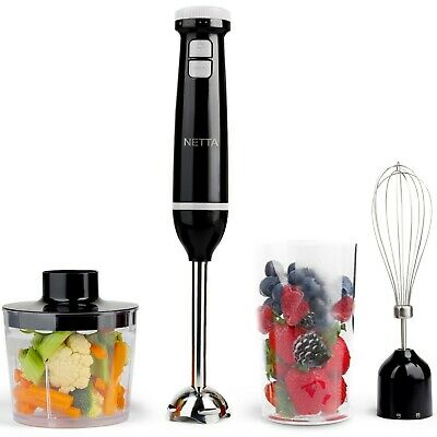 £17.99 • Buy 3 In 1 600W Electric Immersion Hand Blender Mixer Chopper Grade B Used