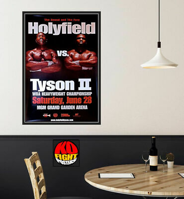 £125 • Buy MIKE TYSON Vs. EVANDER HOLYFIELD (2) : Original Onsite Boxing Fight Poster 30D