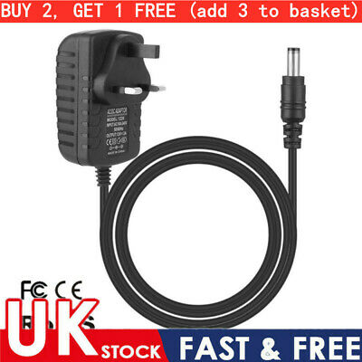 UK Plug 5/12V 1/2/3A AC/DC Power Supply Adapter Charger Mains Transformer • 4.39£
