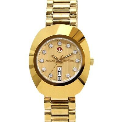 $ CDN115.21 • Buy Vintage Rado Diastar Automatic 36 MM Gold Plated White Stone Men's Wrist Watch