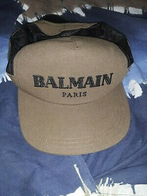 $ CDN161.08 • Buy NEW Sold Out Authentic Runway Balmain Paris Leather Supreme Canvas Hat Rrl Amiri